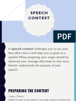 Speech Contest English club material