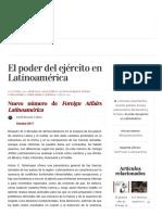 El Poder Del Ejército en Latinoamérica _ Foreign Affairs Latinoamérica