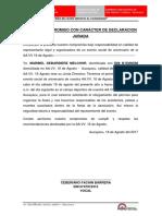 Acta de Compromiso Con Caracter de Organizar Fiestas Contra Accidentes o Peleas
