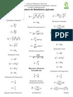 Formulario de Estadística Aplicada