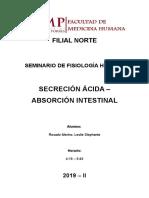 Secreción Ácida - Absorción IntestinalE
