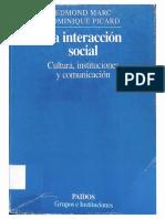 La Interacción Social. Cultura, Instituciones y Comunicación - Marc (Pp. 21-37)