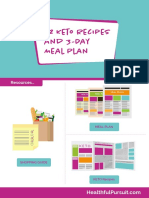 12 Keto Recipes and 3 Day Meal Plan