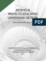 Aportes Al Proyecto Educativo 2013
