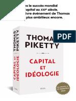 Capital Et Ideologie - Thomas Piketty 0