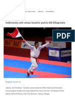 Indonesia Raih Emas Kumite Putra-60 Kilograms Asian Games 2018 Jakarta Palembang