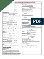 Formulario y Series de Ecuaciones Diferenciales