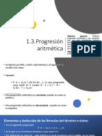 1.3 Progresión Aritmética.(1)