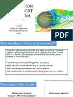 1-Introduction to Transport PhenomenaViscosity
