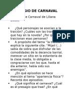 Presagio de Carnaval Actividades