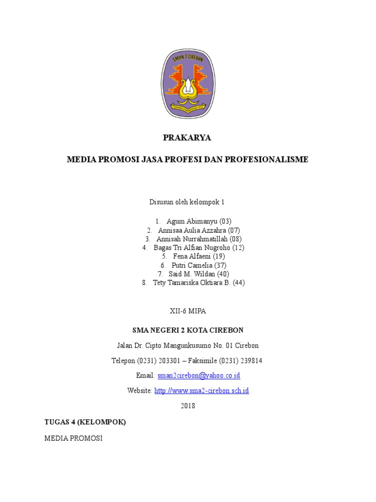 Media Promosi Jasa Profesi Dan Profesionalisme