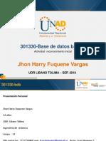 Presentacion Base de Datos , Fase Inicialpp
