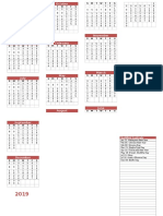2019 Buddhist Calendar