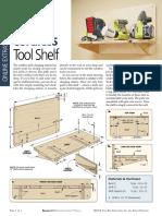 Cordless Tool Shelf