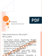 3350704 Unit 2 Organizational Security