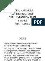 Decks , Hatches ,Superstructures, Shell Plating & Pillars- Updated