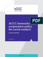 ACCC Immunity & Cooperation Policy for Cartel Conduct - October 2019_FA
