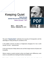 Keeping quiet poem notes class 12