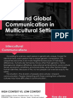 Local and Global Language Multicultural Settings