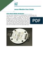 Color Sensor Module User Guide