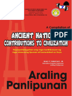 contribution of ancient civilization