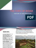 Bidar Fort Deccan Architecture ..Aastha Mishra