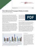GIZ SUTP FS Non Motorised Transport Policy in India En