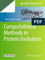 Computational Methods in Protein Evolution 2019