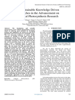 The Sustainable Knowledge Driven Approaches in the Advancement on Artificial Photosynthesis Research