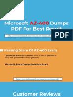 Microsoft AZ-400 Dumps PDF - Bona Fied and Valid