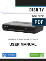Freeview DishTV SNT7070 receiver manual