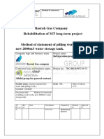 Method Statement of Piling Concrete for Fire Water Tank MT (002)