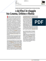 Leonardo da Vinci in viaggio tra Cesena, Urbino e Roma - Il Corriere Cesenate del 5 settembre 2019