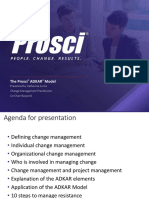 Prosci ADKAR Model 2017 Training Buffet