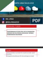 Kkl-tematik Unsa Tahun 2019