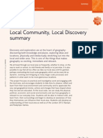 GEOG-2-Local Community, Local Discovery