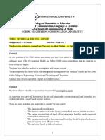 COM 502 Assignment 1 - Report Writing(1)