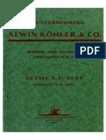 Alwin Köhler - Katalog staveb v Ústí nad Labem a Lovosicích
