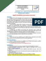 Appel à Candidature Licence Professionnelle HOEV 2019-2020