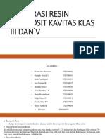 Restorasi Resin Komposit Kavitas Klas III Dan V