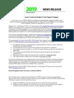 2018-10-02 APEC 2019 Student Travel Program PR 2018Sep26 FINAL