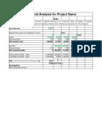 Business Case Financials