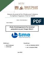Etude d'Aménagement d'Un Terminal Polyvalent Au Port Tanger Med II
