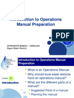 Introduction to Operations Manual Preparation