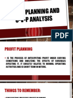 Profit Planning CVP Analysis and Short Term Budgeting