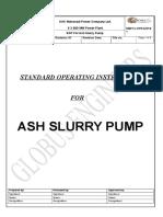 Sop for Ash Slurry Pump (r1)