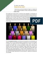 colores de las velas y su significado