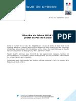 2019-09-06 - Réaction Préfet SUDRY Dégaradations Permanence Jean-Pierre PONT