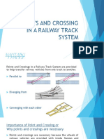 Points and Crossing in a Railway Track System