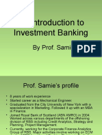 30106696 Introduction to Investment Banking